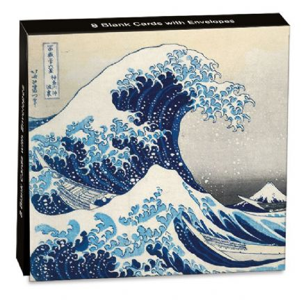 8 Blank Notecards  - Under the Wave - Hokusai